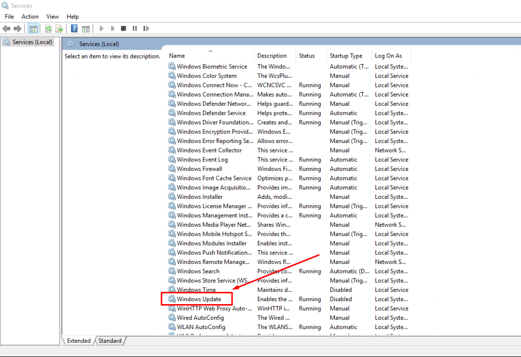 Step 3-How to turn auto update off in Win 10