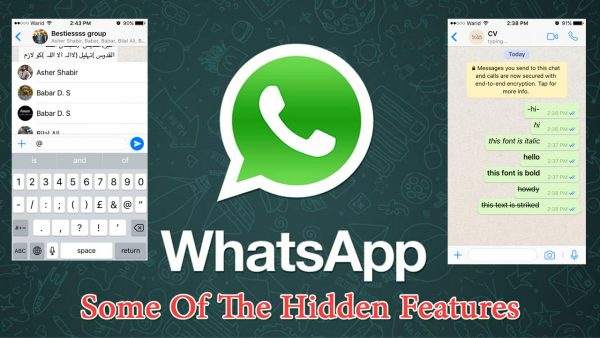 Some of the hidden features and facts of the whatsapp