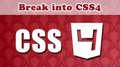 Feature Img Break into CSS4